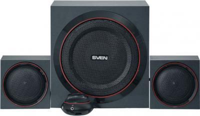 Мультимедиа акустика Sven MS-1080 (черный) - вид спереди