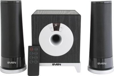 Мультимедиа акустика Sven MS-106 (черный) - вид спереди