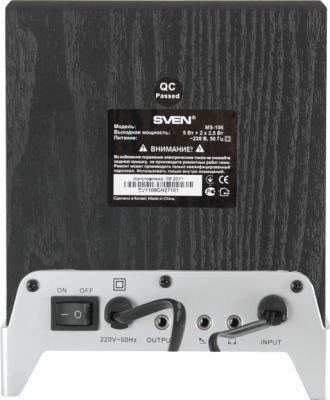 Мультимедиа акустика Sven MS-106 (черный) - вид сзади