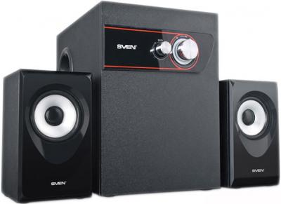 Мультимедиа акустика Sven MS-105 (черный) - общий вид