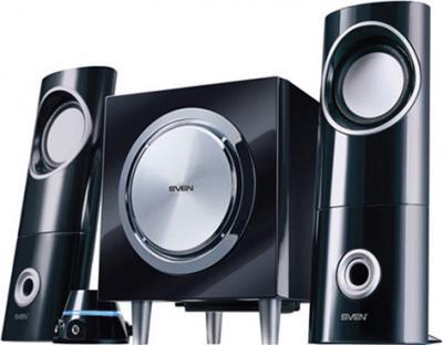 Мультимедиа акустика Sven MS-103 (черный) - общий вид