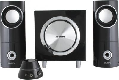 Мультимедиа акустика Sven MS-103 (черный) - вид спереди
