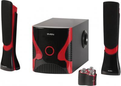 Мультимедиа акустика Sven MS-1020 (черный) - общий вид