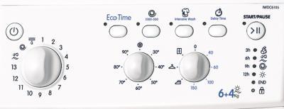 Стирально-сушильная машина Indesit IWDC 6105 (EU) - переключатели