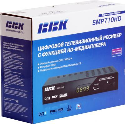 Тюнер цифрового телевидения BBK SMP710HD - коробка