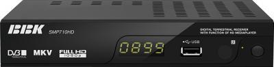 Тюнер цифрового телевидения BBK SMP710HD - фронтальный вид