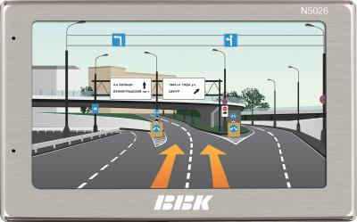 GPS навигатор BBK N5026 (Silver) - общий вид