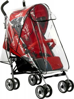 Детская прогулочная коляска Caretero Gringo (Red) - дождевик