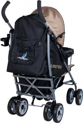 Детская прогулочная коляска Caretero Spacer (Beige) - вид сзади