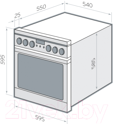 Электрический духовой шкаф Hansa BOEW68120090