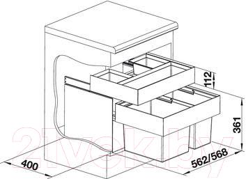 Система сортировки мусора Blanco Select 60/2 Orga (518725)