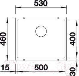 Мойка кухонная Blanco Subline 500-U (518965)