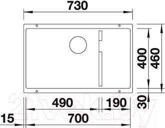 Мойка кухонная Blanco Subline 700-U Level (518973)