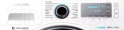 Стирально-сушильная машина Samsung WD80J7250GW