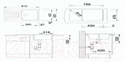 Мойка кухонная Granula GR-8001 (жасмин)