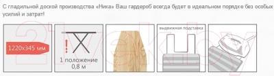 Гладильная доска Ника 5 / Н5 (ирисы)