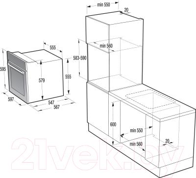 Электрический духовой шкаф Gorenje BO637E36BG-2