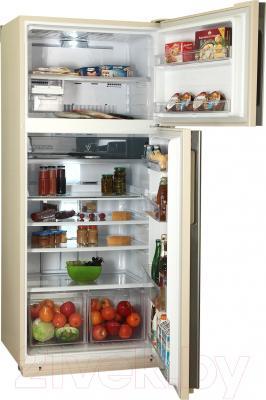 Холодильник с морозильником Sharp SJ-XE59PMBE