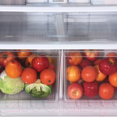 Холодильник с морозильником Sharp SJ-XE59PMBK