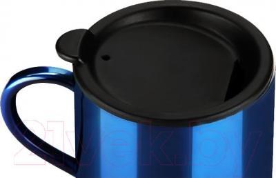 Термокружка Арктика 802-400 (синий) - герметичная крышка с пароотводным отверстием