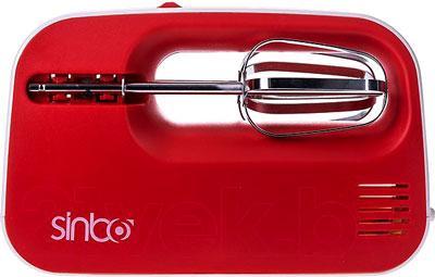 Миксер ручной Sinbo SMX-2733 (бело-красный)