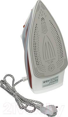 Утюг Sinbo SSI-2870 (красный) - керамическое покрытие подошвы