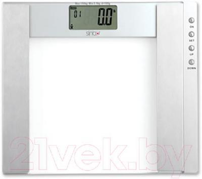 Напольные весы электронные Sinbo SBS-4433 (серебристый) - энергосберегающий ЖК-дисплей