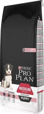 Корм для собак Pro Plan Puppy Medium Sensitive Skin с лососем (12 кг) - общий вид