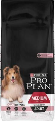 Корм для собак Pro Plan Adult Medium Sensitive Skin с лососем и рисом (14 кг) - общий вид