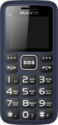 Мобильный телефон Maxvi B3 (маренго)