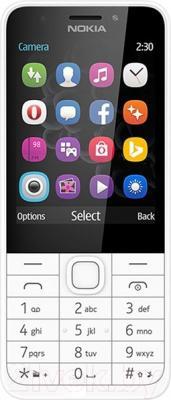 Мобильный телефон Nokia 230 (серебристый)