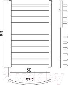 Полотенцесушитель водяной Terminus Классик Люкс 32/20 П10 500х830