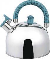 Чайник со свистком Bekker BK-S307M (нержавеющая сталь/голубой) -