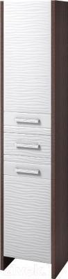 Шкаф-пенал для ванной Аква Родос Лотос 40 R (венге, с корзиной)