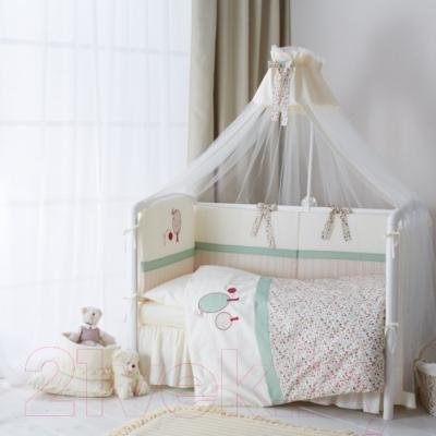 Балдахин на кроватку Perina Клюковка КЛ1/1-01.3 - в интерьере (в комплекте только балдахин)