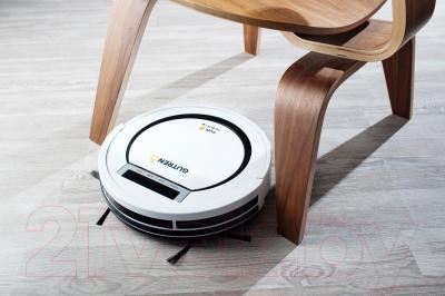 Робот-пылесос Gutrend Fun 110 Pet (белый/черный) - в процессе использования