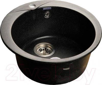Мойка кухонная GranFest Rondo GF-R480 (черный)