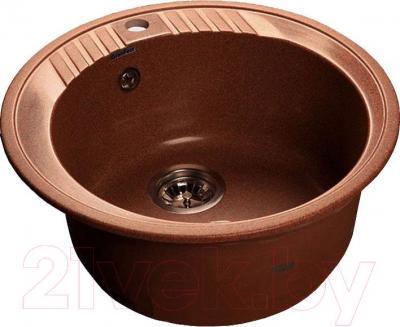 Мойка кухонная GranFest Rondo GF-R520  (красный марс)