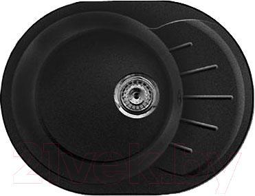 Мойка кухонная GranFest Rondo GF-R580L (черный)