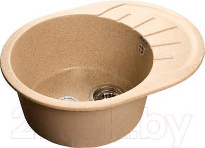 Мойка кухонная GranFest Rondo GF-R580L (песок)