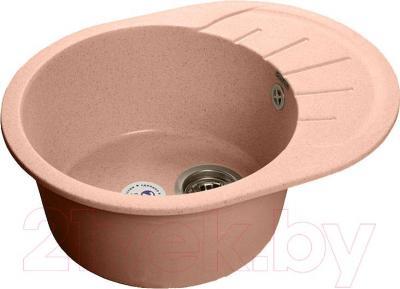 Мойка кухонная GranFest Rondo GF-R580L (светло-розовый)