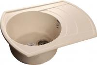 Мойка кухонная GranFest Rondo GF-R650L (белый) -
