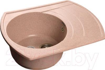 Мойка кухонная GranFest GF-R650L (светло-розовый)