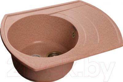 Мойка кухонная GranFest GF-R650L (розовый)