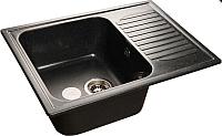 Мойка кухонная GranFest Standart GF-S645L (черный) -