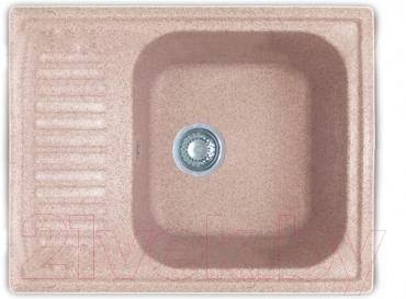 Мойка кухонная GranFest GF-S645L (розовый)