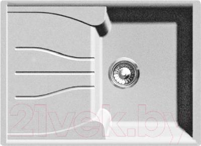 Мойка кухонная GranFest Standart GF-S680L (белый)