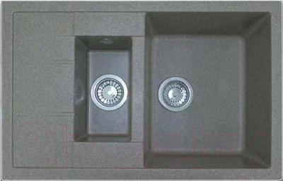 Мойка кухонная GranFest Quadro GF-Q775KL (серый)