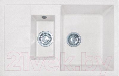 Мойка кухонная GranFest GF-Q775KL (белый)