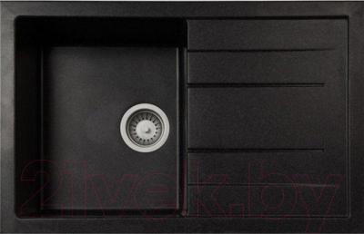 Мойка кухонная GranFest Quadro GF-Q780L (черный)